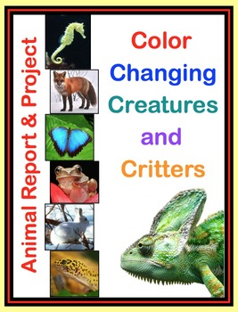 Animal Report and Project - Read, Write, Share & Create