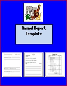 Animal Report Template - Editable