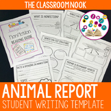 Animal Report Writing Template