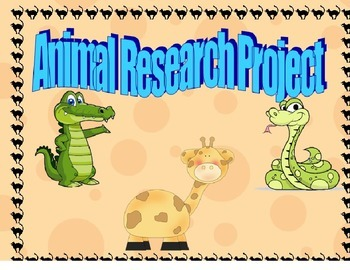 Animal Research Project Graphic Organizer Template