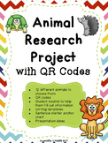 Animal Research Project with QR Codes