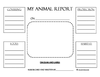 Animal Research Report Graphic Organizers