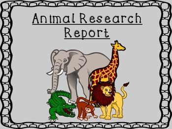Animal Research Report with Structured Graphic Organizers