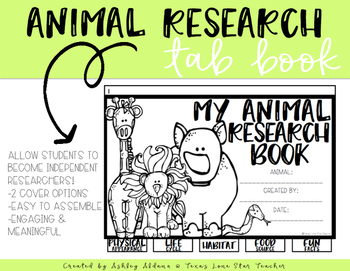 Animal Research Tab Book