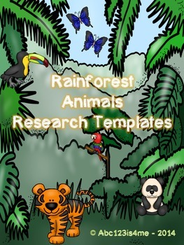 Animal Research Templates- Rainforest Theme