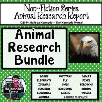 Animal Research Report BUNDLE {Non-fiction Reports for 16