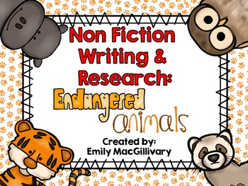 Animal Research and Non Fiction Writing: Endangered Animals