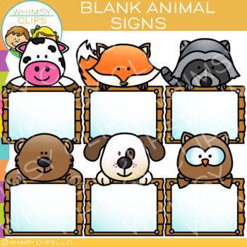 Animal Signs Clip Art