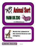 Animal Sort - Farm or Zoo Folder Game