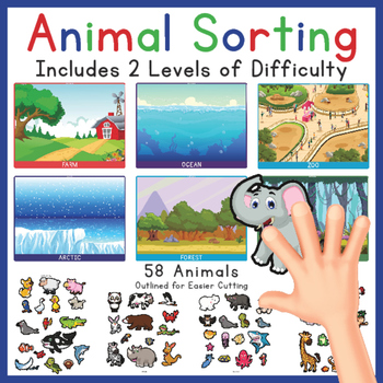 Animal Sorting, Categories, 2 levels of difficulty (Zoo, O