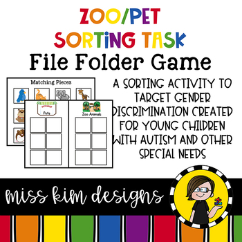 Zoo + Pet Sorting File Folder Game for Early Childhood Spe