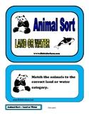Animal Sorting - Land or water