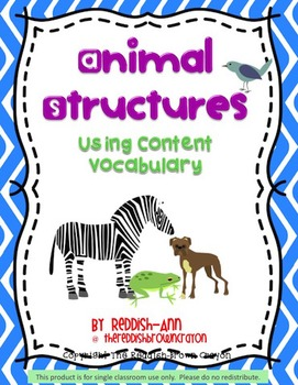 Animal Structures: Using Content Vocabulary