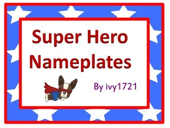 Animal Super Hero Nameplates