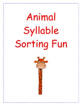 Animal Syllable Sorting Fun