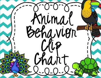 Animal Themed Behavior Clip Chart
