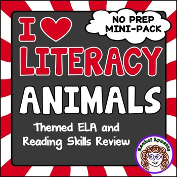 Animal Themed ELA and Reading Skills Review Mini-Pack - Mo