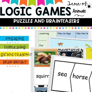 #betterthanchocolate Logic games with an animal theme.  Ma