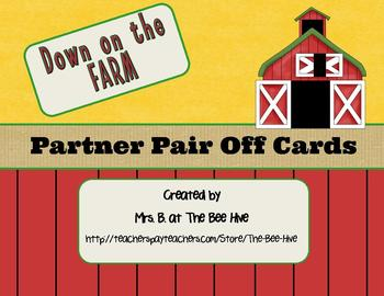 Partner Pair Off Cards Animal Themed BUNDLE