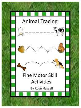 Fine Motor Skill Activities Animal Tracing Preschool Autis