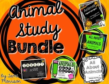 Animal Unit Study {Vertebrate & Invertebrate Activities Bundle}