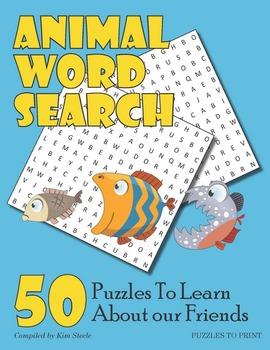 Animals Word Search Puzzle Bundle