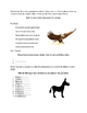 Animal Words, Personification, Poetry, and Similies