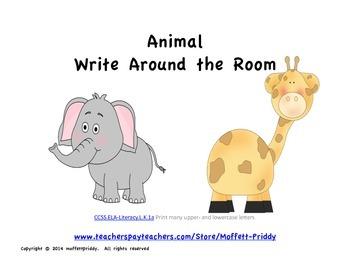 Animal Write Around the Room