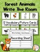 Animal Write The Room Vocabulary and Writing Bundle