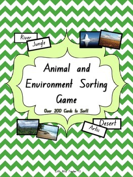 Animal and Environment/Habitat Sorting Game - Over 200 Car