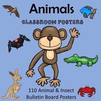 Animal and Insect Bulletin Board Posters