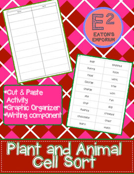Animal and Plant Cell Sort and Activity