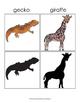 Animal and Silhouette Matching - Montessori Style