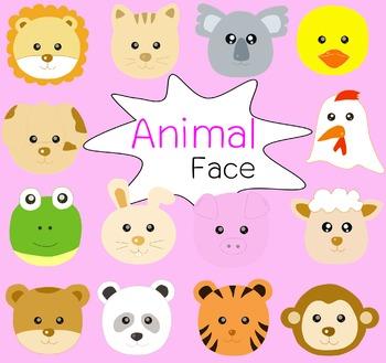 Animal face clip art