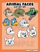 Animal faces clip art set