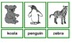 Zoo animal flashcards