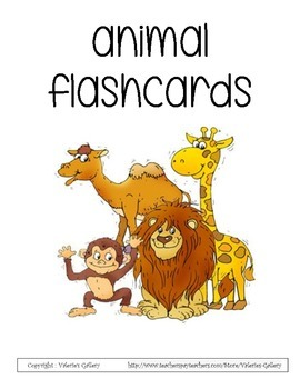 Animal flashcards (goes with the animal card game)