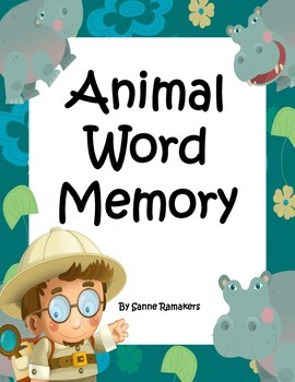 Animal word memory / concentration game