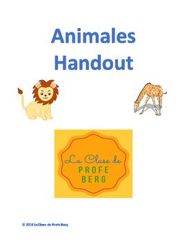 Animales Handout