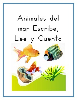 Animales del mar (Sea animals in Spanish) worksheets