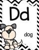 Alphabet Posters, Animals A to Z, Classroom Decor, (Chevron)