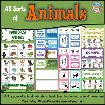 Sorting Animals by Characteristics (Habitat, Movement and More!)