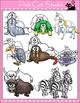 Animals Alphabet Clip Art Set - Beginning Sounds Clip Art