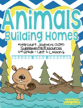 Animals Building Homes (Journeys 2nd Grade - Supplemental