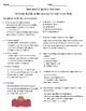 Animals Building Homes Vocab and Comprehension Test
