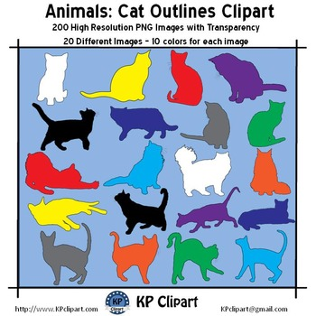Animals Cat Outlines Clipart