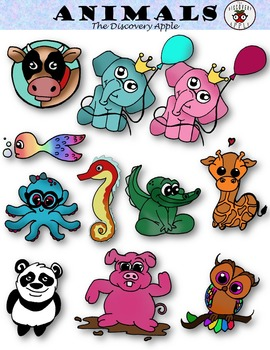 Animals ClipArt Cute Personal & Commercial Use - Colored +