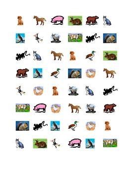 Animals Connect the dots Squares game