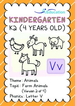 Animals - Farm Animals (II): Letter V - K2 (4 years old)