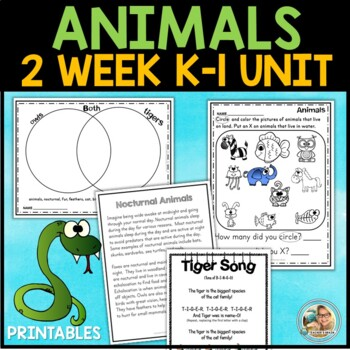 Animal Habitats kindergarten & 1st Grade Unit